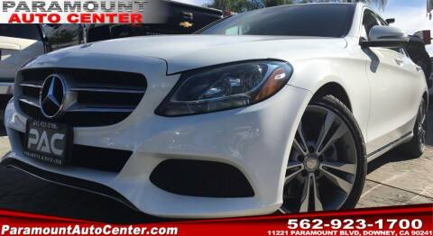 2016 Mercedes-Benz C-Class for sale at PARAMOUNT AUTO CENTER in Downey CA
