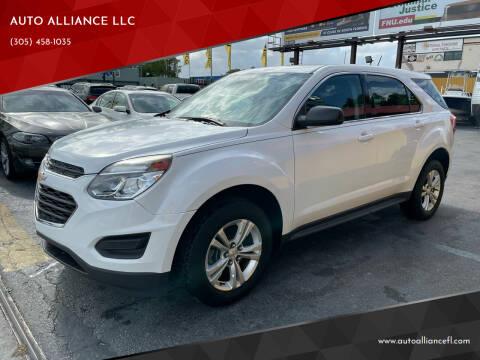 2017 Chevrolet Equinox for sale at AUTO ALLIANCE LLC in Miami FL