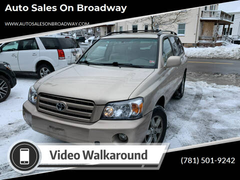 2004 Toyota Highlander for sale at Auto Sales on Broadway in Norwood MA