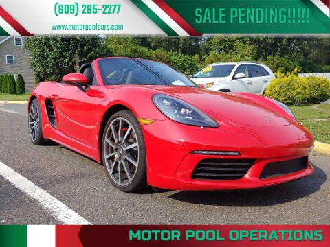 2018 Porsche 718 Boxster for sale at Motor Pool Operations in Hainesport NJ