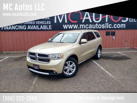 2011 Dodge Durango for sale at MC Autos LLC in Pharr TX