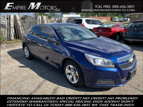 2013 Chevrolet Malibu for sale at Empire Motors LTD in Cleveland OH