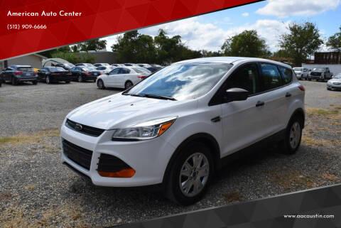 2016 Ford Escape for sale at American Auto Center in Austin TX