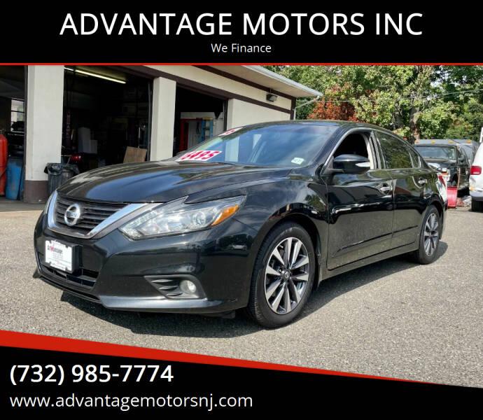 2016 Nissan Altima for sale at ADVANTAGE MOTORS INC in Edison NJ