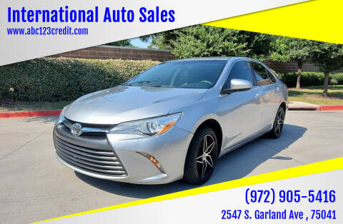 2016 Toyota Camry for sale at International Auto Sales in Garland TX