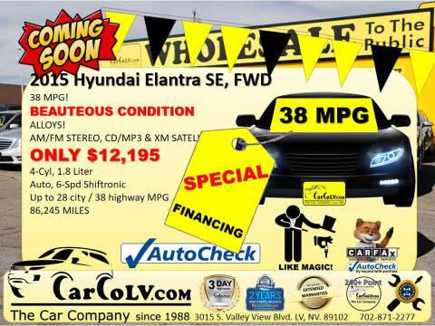 2015 Hyundai Elantra for sale at The Car Company in Las Vegas NV