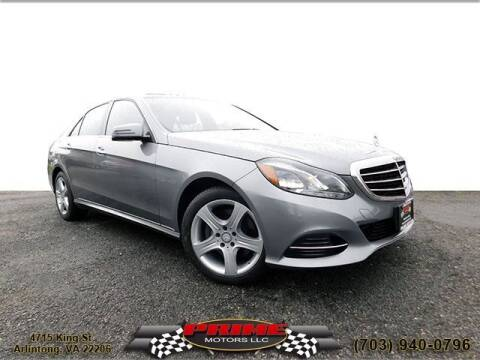 2014 Mercedes-Benz E-Class for sale at PRIME MOTORS LLC in Arlington VA