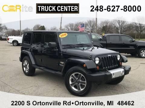 2010 Jeep Wrangler Unlimited for sale at Carite Truck Center in Ortonville MI