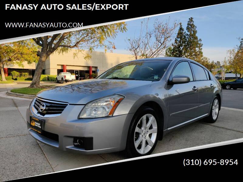 2007 Nissan Maxima for sale at FANASY AUTO SALES/EXPORT in Yorba Linda CA