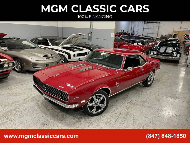 1968 Chevrolet Camaro for sale at MGM Classic Cars in Addison, IL