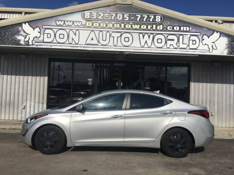 2016 Hyundai Elantra for sale at Don Auto World in Houston TX