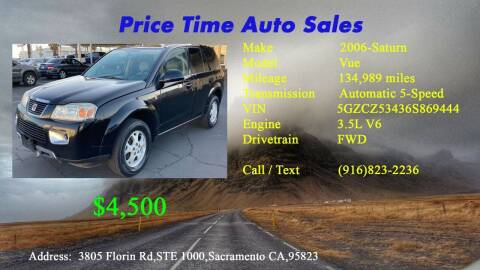 2006 Saturn Vue for sale at PRICE TIME AUTO SALES in Sacramento CA