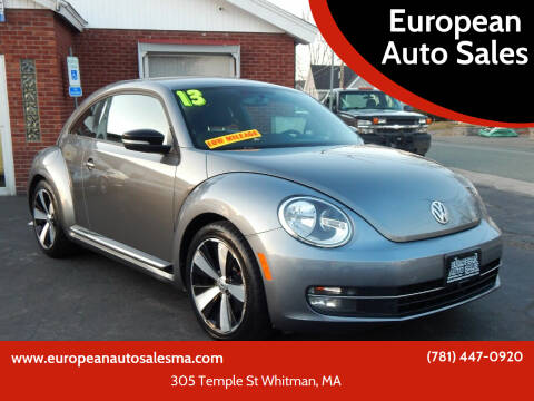 2013 Volkswagen Beetle for sale at European Auto Sales in Whitman MA