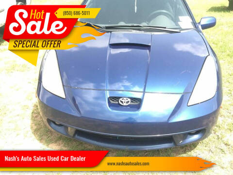 2002 Toyota Celica for sale at Nash's Auto Sales Used Car Dealer in Milton FL