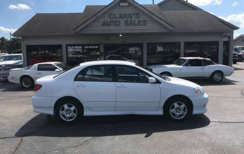 2004 Toyota Corolla for sale at Clarks Auto Sales in Middletown OH