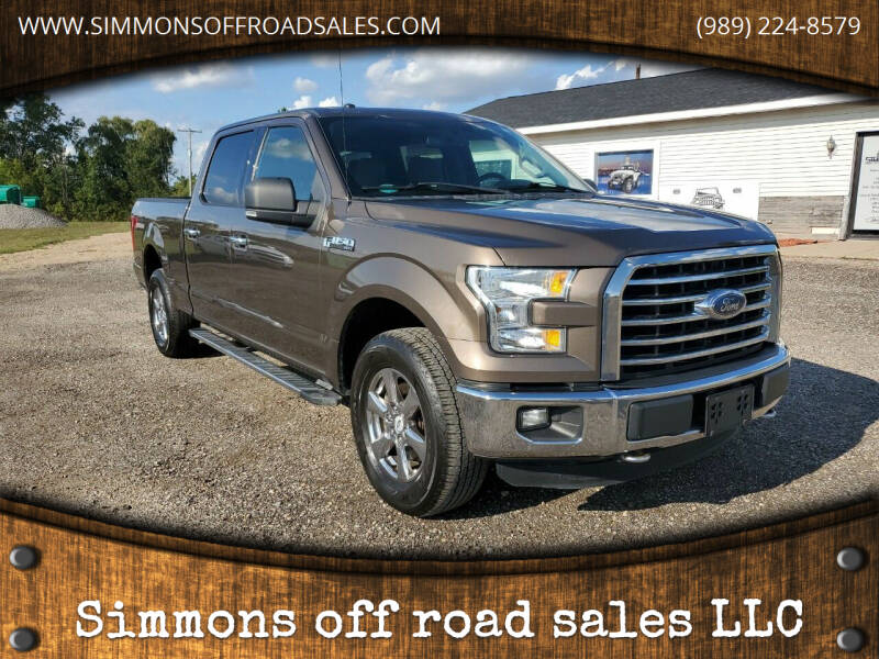 2015 Ford F-150 for sale at Simmons off road sales LLC in Saint Johns MI