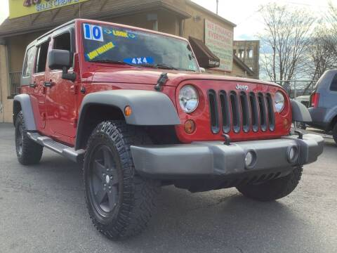 2010 Jeep Wrangler Unlimited for sale at Active Auto Sales Inc in Philadelphia PA
