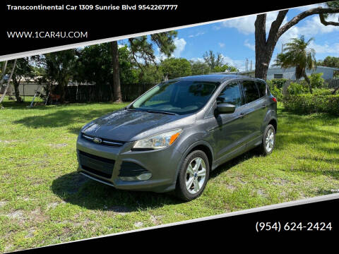 2013 Ford Escape for sale at Transcontinental Car in Fort Lauderdale FL