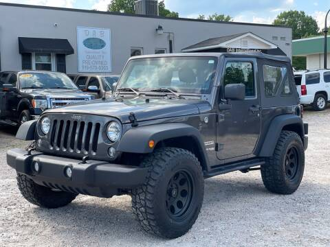 2018 Jeep Wrangler JK for sale at DAB Auto World & Leasing in Wake Forest NC