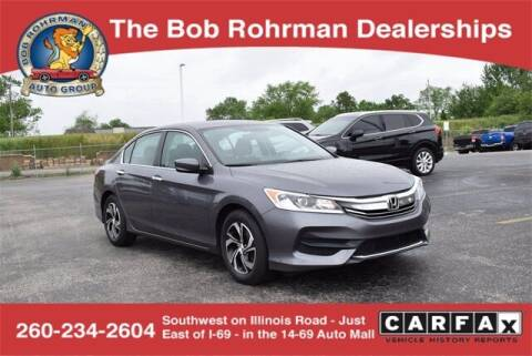 2016 Honda Accord for sale at BOB ROHRMAN FORT WAYNE TOYOTA in Fort Wayne IN