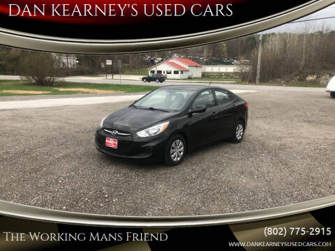 2015 Hyundai Accent for sale at DAN KEARNEY'S USED CARS in Center Rutland VT