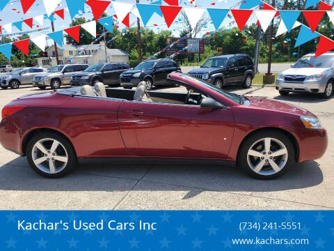 2008 Pontiac G6 for sale at Kachar's Used Cars Inc in Monroe MI