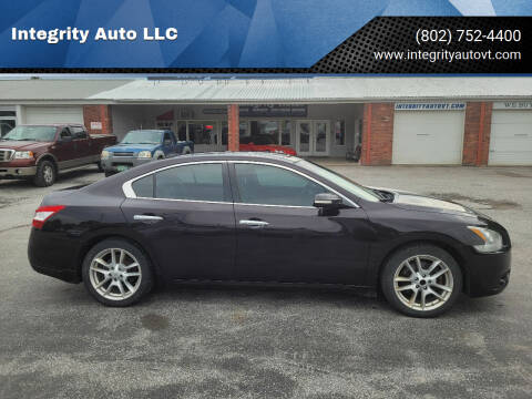 2011 Nissan Maxima for sale at Integrity Auto LLC - Integrity Auto 2.0 in St. Albans VT