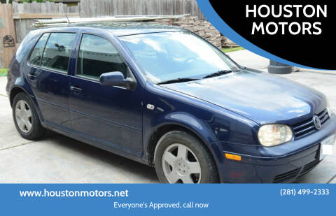 2002 Volkswagen Golf for sale at HOUSTON MOTORS in Stafford TX