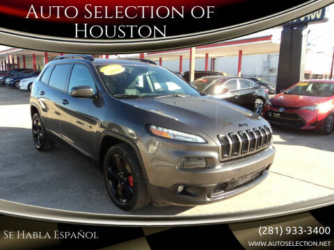 2018 Jeep Cherokee for sale at Auto Selection of Houston in Houston TX