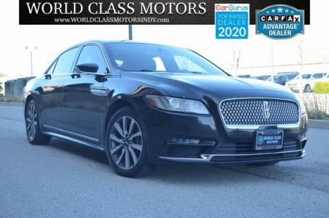 2017 Lincoln Continental for sale at World Class Motors LLC in Noblesville IN