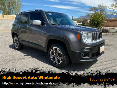 2017 Jeep Renegade for sale at High Desert Auto Wholesale in Albuquerque NM