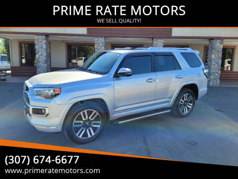 2014 Toyota 4Runner for sale at PRIME RATE MOTORS in Sheridan WY