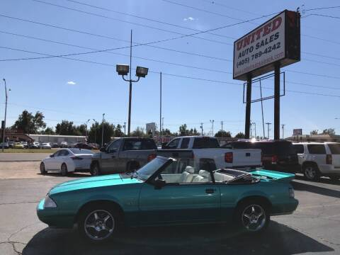 1992 Ford Mustang for sale at United Auto Sales in Oklahoma City OK