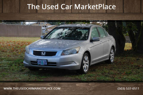 2009 Honda Accord for sale at The Used Car MarketPlace in Newberg OR
