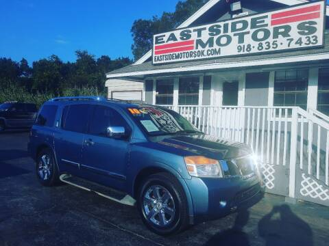 2010 Nissan Armada for sale at EASTSIDE MOTORS in Tulsa OK