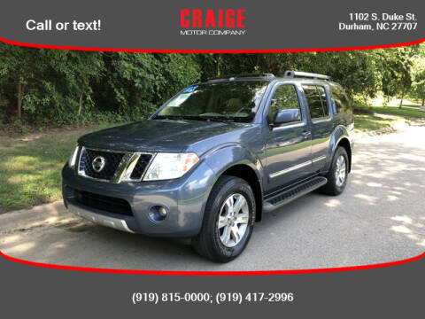 2008 Nissan Pathfinder for sale at CRAIGE MOTOR CO in Durham NC