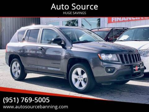 2015 Jeep Compass for sale at Auto Source in Banning CA