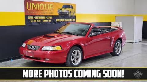 2001 Ford Mustang for sale at UNIQUE SPECIALTY & CLASSICS in Mankato MN
