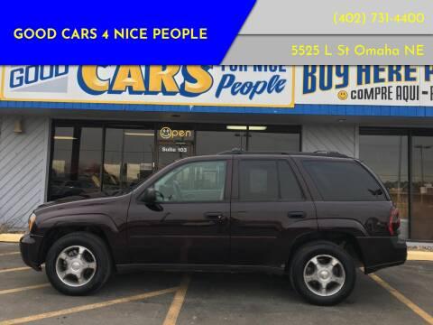 2008 Chevrolet TrailBlazer for sale at Good Cars 4 Nice People in Omaha NE