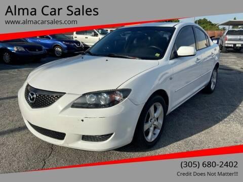 2006 Mazda MAZDA3 for sale at Alma Car Sales in Miami FL