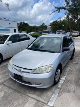 2005 Honda Civic for sale at ETS Autos Inc in Sanford FL