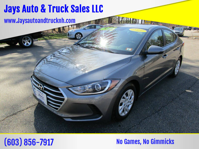 2018 Hyundai Elantra for sale at Jays Auto & Truck Sales LLC in Loudon NH