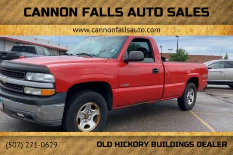 2001 Chevrolet Silverado 1500 for sale at Cannon Falls Auto Sales in Cannon Falls MN