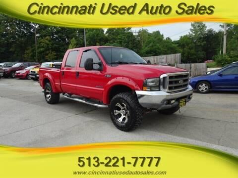 2001 Ford F-250 Super Duty for sale at Cincinnati Used Auto Sales in Cincinnati OH