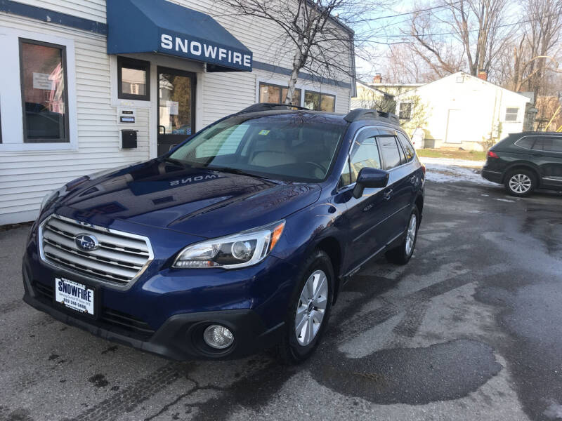 2016 Subaru Outback for sale at Snowfire Auto in Waterbury VT
