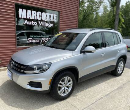 2016 Volkswagen Tiguan for sale at Marcotte & Sons Auto Village in North Ferrisburgh VT