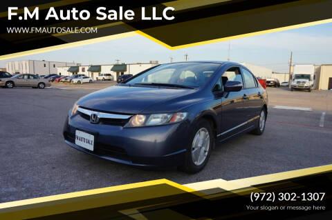 2006 Honda Civic for sale at F.M Auto Sale LLC in Dallas TX
