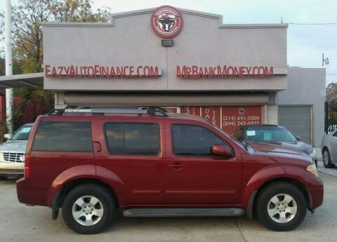 2006 Nissan Pathfinder for sale at Eazy Auto Finance in Dallas TX