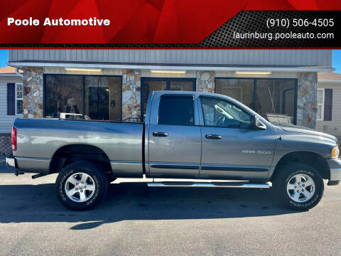 2005 Dodge Ram Pickup 1500 for sale at Poole Automotive in Laurinburg NC