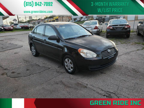 2009 Hyundai Accent for sale at Green Ride Inc in Nashville TN